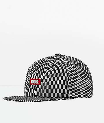 DGK Illusion Black & White Strapback Hat