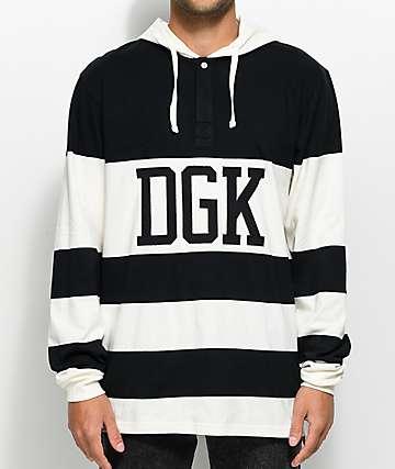 DGK Jumper camiseta rugby de manga larga con capucha