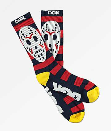 DGK Killin Em Navy, Red & White Crew Socks