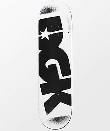 "DGK Logo 8.25"" White & Black Skateboard Deck"
