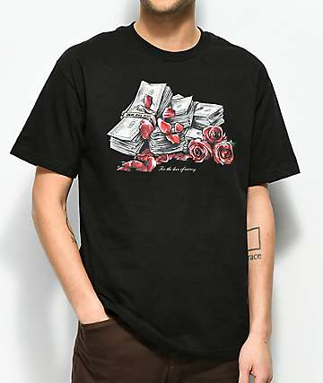 DGK Love Of Money Black T-Shirt