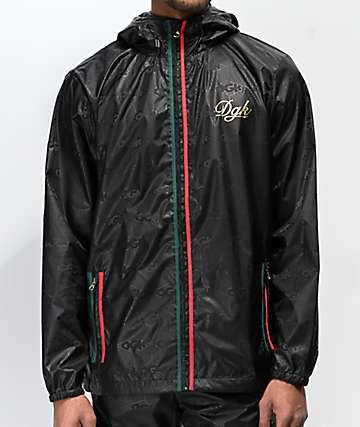 DGK Lux Black Windbreaker Jacket