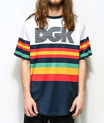 DGK Major camiseta blanca de punto a rayas