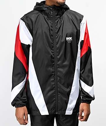 DGK Mirage Black, Red & White Windbreaker Jacket