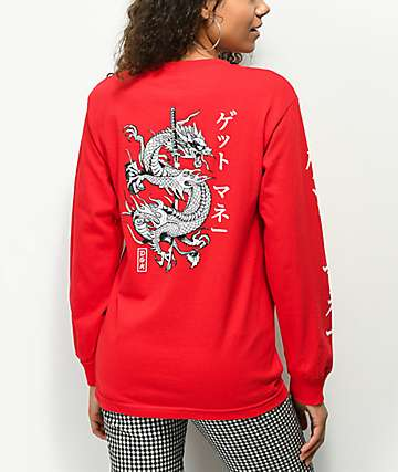 DGK Money Red Long Sleeve T-Shirt