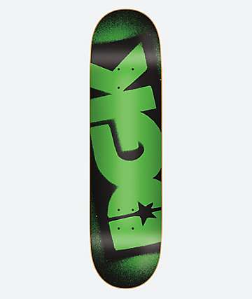 "DGK OG Logo Black & Volt Green 8.25"" Skateboard Deck"