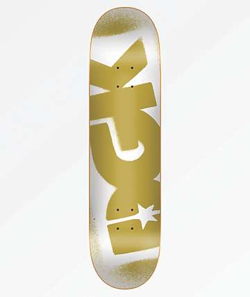 "DGK OG Logo White & Gold 8.25"" Skateboard Deck"
