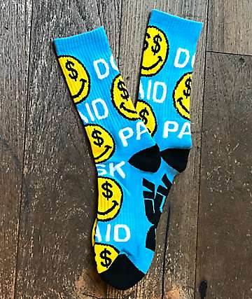 DGK Paid Blue Crew Socks