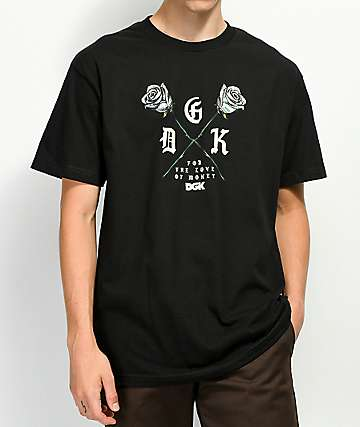 DGK Paper Roses Black T-Shirt