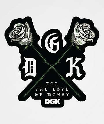 DGK Paper Roses Sticker