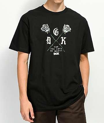DGK Paper Roses camiseta negra