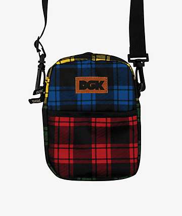 DGK Patchwork Plaid Shoulder Bag