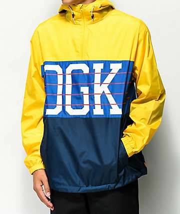 DGK Race Yellow Windbreaker Jacket