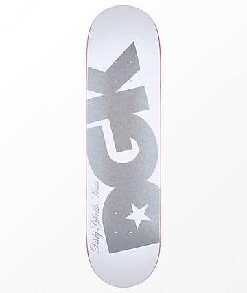 """DGK Shimmer 8.25"""" White Skateboard Deck"""