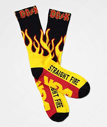 DGK Straight Fire Crew Socks