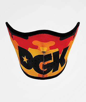 DGK Strike Orange Camo Face Mask
