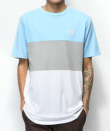 DGK Tactics Blue, Grey & White T-Shirt