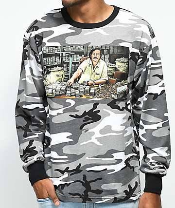 DGK The Boss Grey Camo Long Sleeve T-Shirt