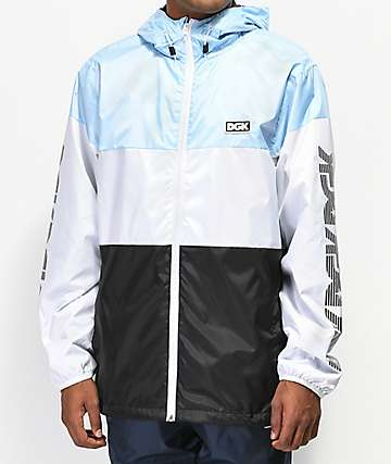 DGK Triple Light Blue Windbreaker Jacket