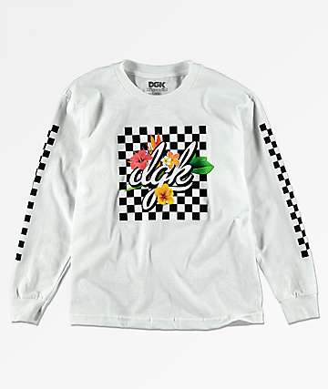 DGK Tropical camiseta blanca de manga larga para niños