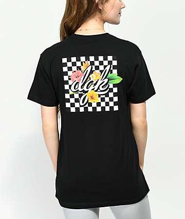 DGK Tropical camiseta negra para mujeres