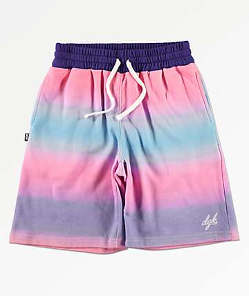 DGK Venice Pink & Blue Sweat Shorts