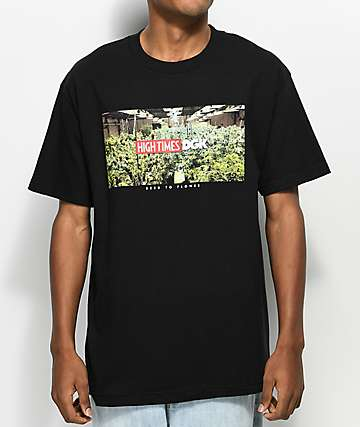 DGK X High Times Grow Room camiseta negra