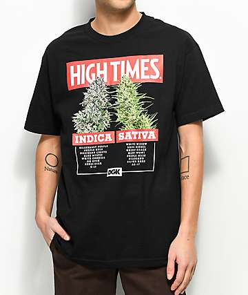 DGK X High Times Options Black T-Shirt