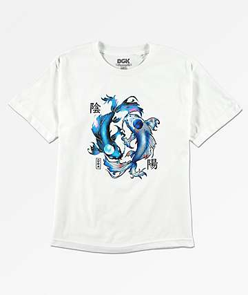 DGK Yin Yang camiseta blanca para niños