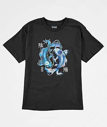 DGK Yin Yang camiseta negra para niños
