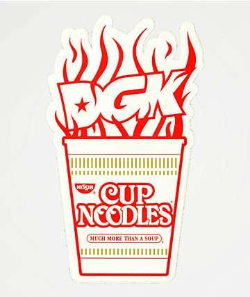 DGK x Cup Noodles Red & White Sticker