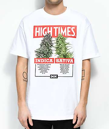 DGK x High Times Options camiseta blanca