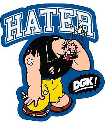 DGK x Popeye Brutus Sticker