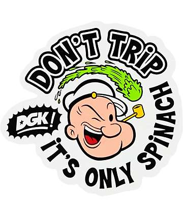 DGK x Popeye Dont Trip Sticker