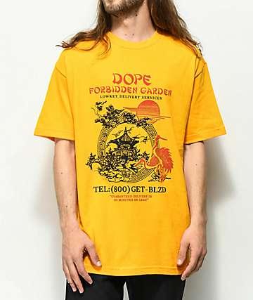 DOPE Forbidden Garden camiseta dorada