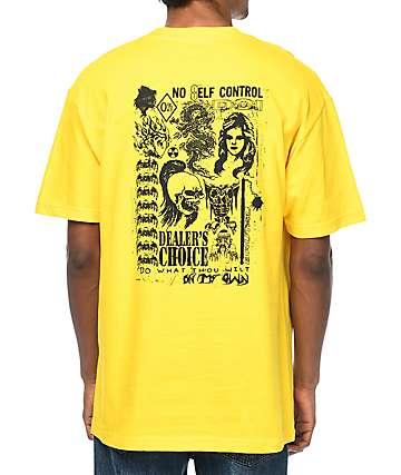 DROPOUT CLUB INTL X Noel Boyt Dealers Choice camiseta en color amarillo