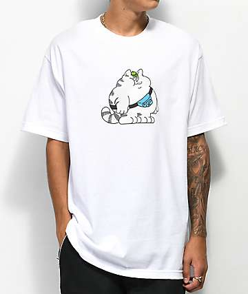 DROPOUT CLUB INTL. Flores Hype White T-Shirt