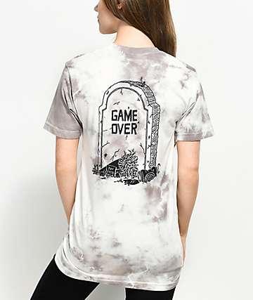 DROPOUT CLUB INTL. Game Over camiseta con efecto tie dye