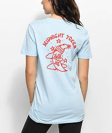 DROPOUT CLUB INTL. Midnight Toker Light Blue T-Shirt