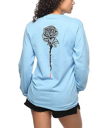 DROPOUT CLUB INTL. Rose camiseta azul de manga larga
