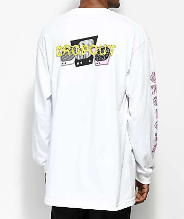 DROPOUT CLUB INTL. TV camiseta blanca de manga larga