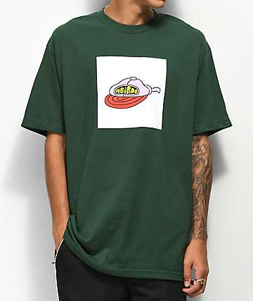 DROPOUT CLUB INTL. Weirdo Dark Green T-Shirt
