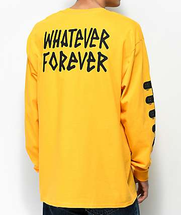 DROPOUT CLUB INTL. Whatever camiseta amarilla de manga larga