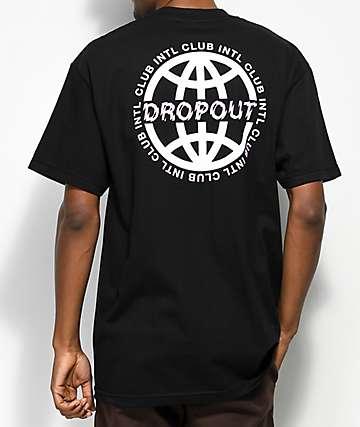 DROPOUT CLUB INTL. Worldwide camiseta negra