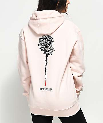 DROPOUT CLUB INTL. x Bonethrower Rose sudadera rosa con capucha