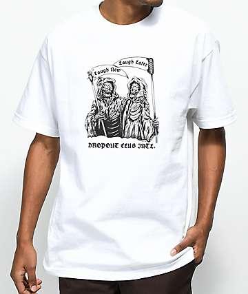 DROPOUT CLUB INTL. x Boss Dog Laugh camiseta blanca