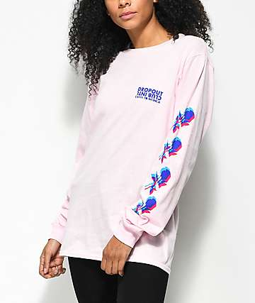 DROPOUT CLUB INTL. x Earth To Monica 3D Roses camiseta de manga larga