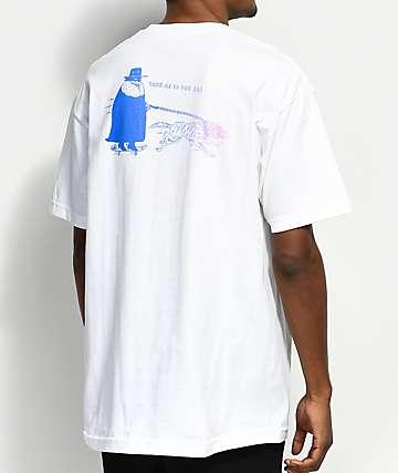 DROPOUT CLUB INTL. x Heavy Slime Bar White T-Shirt