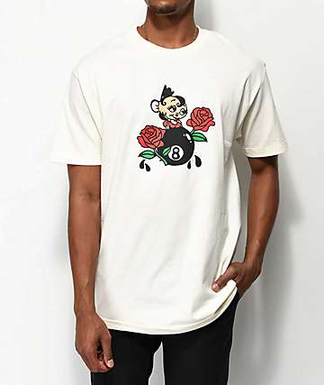 DROPOUT CLUB INTL. x Skip Class Mi Amore Cream T-Shirt