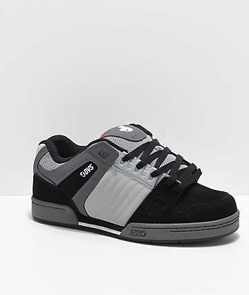 DVS Celsius Black, Grey, White & Red Skate Shoes